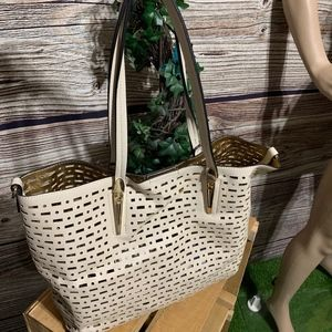 Handbags - WOMENS CREAM TOTE HANDBAG